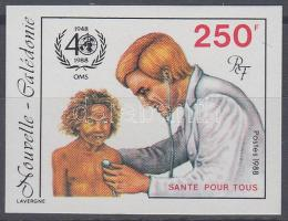 40th anniversary of WHO imperforated stamp, 40 éves a WHO vágott bélyeg