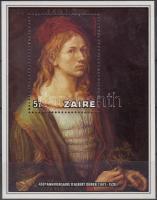 450th death anniversary of Dürer block, Dürer halálának 450. évfordulója blokk