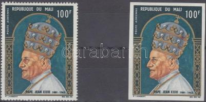 1965 XXIII. János pápa fogazott + vágott bélyeg Mi 114