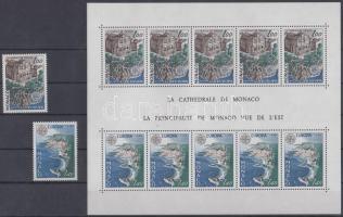 1978 Europa CEPT építészeti műemlékek sor Mi 1319-1320 + blokk Mi 12
