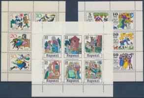 1966-1978 Mesék (I+IV+XIII) 3 klf kisív