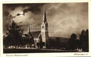 Budapest II. Máriaremete, templom, holdvilágos est