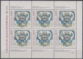 500th anniversary of Azulejo in Portugal minisheet, 500 éves az Azulejo Portugáliában kisív