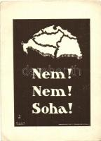 Hungarian irredenta, s: Besskó, Nem! Nem! Soha! kiadja a Magyar Nemzeti Szövetség, irredenta s: Besskó