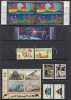 20 stamps with relations, 20 db bélyeg, közte összefüggések