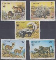 1977 WWF veszélyeztetett állatfajok sor Mi 228-232
