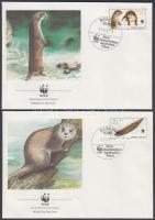 1987 WWF vidrák sor Mi 3107-3110 4 FDC