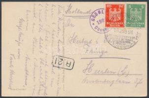 1926 Düsseldorfi kiállítás képeslap alkalmi bélyegzéssel