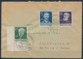 1953 Mi 92,95,96 levélen, 2 érték esetében elsőnapi