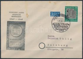 1949 Mi 113 alkalmi bélyegzés levélen