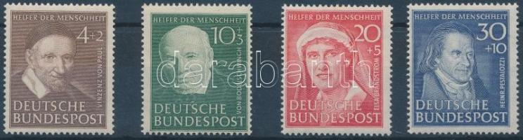 1951 Az emberiség jótevői sor (enyhén eltolódott bélyegkép) Mi 143-146
