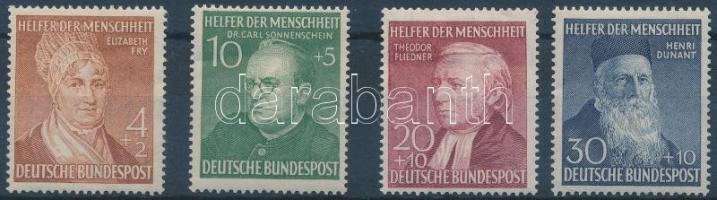1952 Az emberiség jótevői sor (enyhén eltolódott bélyegkép) Mi 156-159