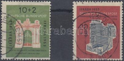 1953 IFRABA nemzetközi bélyegkiállítás sor (eltolódott bélyegkép) Mi 171-172