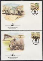 1987 WWF Orrszarvúak sor Mi 528-531 4 FDC
