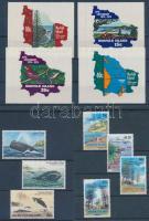1974 + 1982 + 1992 UPU, bálnák, karácsony 3 sor (közte ívszéli öntapadós sor) Mi 160-163 + 286-288 + 531-534
