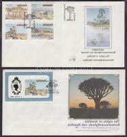 1990 Látnivalók sor FDC-n Mi 671-674 + blokk FDC-n Mi 12