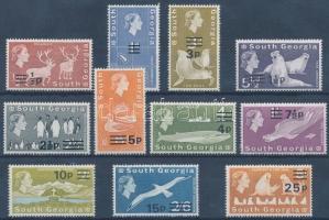 1971/1973 Definitive: Nature stamps for the same set with overprint, 1971/1973 Forgalmi: élővilág bélyegek ugyanabból a sorból, felülnyomással