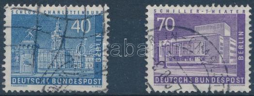 1956-1957 Forgalmi: berlini városképek bélyegek egy sorból Mi 149 + 152