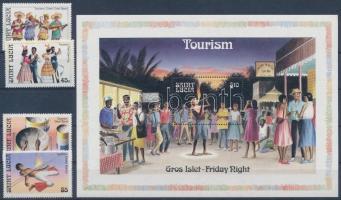 Turism set + block, Turizmus sor + blokk