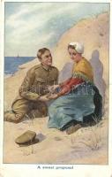 British soldier in the Netherlands, Dutch folklore, Brit katona Hollandiában, holland folklór