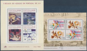 1985-1986 International Stamp Exhibition, Azulejo 2 block, 1985-1986 nemzetközi bélyegkiállítás, Azulejo 2 blokk