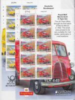 2013 Europa CEPT Postai járművek Mi 1419-1420 kisívpár