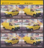 2013 Europa CEPT Postai járművek bélyegfüzet Mi MH 11