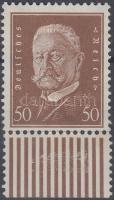 1928 Hindenburg ívszéli bélyeg Mi 420