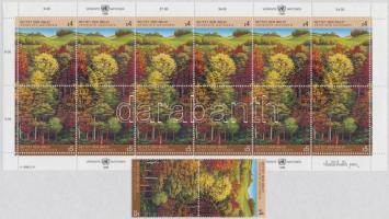 Forest protection pair + mini sheet, Erdővédelem pár + kisív