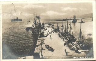 Trieste, molo S. Carlio, ships