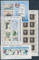 1988-1990 Hajók, karácsony, 150 éves a bélyeg kisív Mi 431 + 3 blokk Mi 10-11 + 14