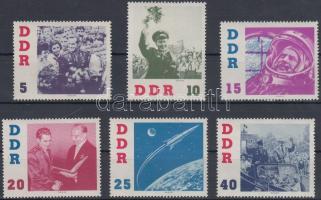 1961 German Titow űrhajós sor Mi 863-868