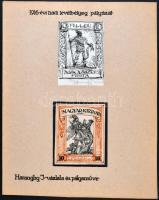 Haranghy Jenő 1916 évi hadi levélbélyeg pályázatra készült, meg nem valósult bélyegterv vázlata és pályaműve (2 grafika), tus és tűfilc, 7.4 x 9 cm és 8 x 9.7 cm, szignózott, paszpartuban / War charity issue, 2 essays of Jenő Haranghy