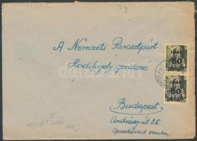 1945 (5. díjszabás) Távolsági levél Kisegítő 2x60P/18f bérmentesítéssel