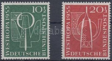 1955 Bélyegkiállítás sor Mi 217-218