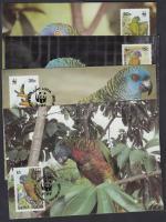1987 WWF Papagáj sor Mi 909-912 4 CM