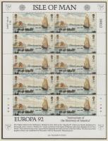 1992 Europa CEPT kisív sor Mi 503-506