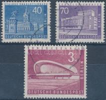 1956-1958 Berlini városképek bélyegek egy sorból Mi 149, 152, 154