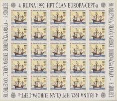 1992 Europa CEPT kisív sor / Mi 211-212 minisheets