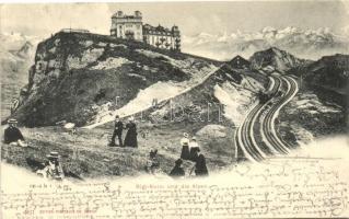 Rigi Kulm und die Alpen
