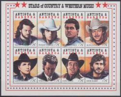Country and western stars minisheet, Country és western sztárok kisív