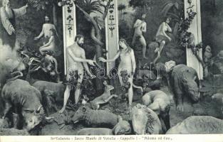 Varallo, Sacro Monte di Varallo, Capelle I. / chapel interior, Adam and Eve painting (EK)