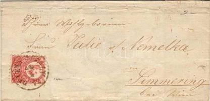1872 Réznyomat 5kr levélen DÉVÉNY-UJFALU - WIEN - Simmering