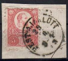 1871 Réznyomat 5kr / Mi. 10a PEST-AJÁNLOTT