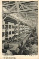 Brzezinka Auschwitz-Birkenau concentration camp, Interior of men's barracks