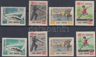 1963 Téli olimpia fogazott és vágott sor Mi 793-801