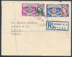1960 Európa CEPT ajánlott FDC Magyarországra