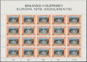 1978 Europa CEPT Műemlékek kisív sor Mi 161-162