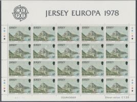 1978 Europa CEPT Műemlékek kisív sor Mi 177-179