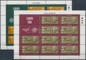 1980 Europa CEPT Jelentős személyek kisív sor Mi 615-616